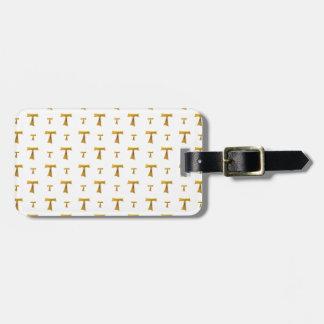 Golden Franciscan Tau Cross Bag Tag