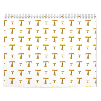 Golden Franciscan Tau Cross Calendar