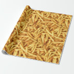 golden french fries wrapping paper