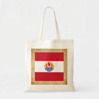 Golden French Polynesia Flag Budget Tote Bag