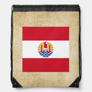 Golden French Polynesia Flag Cinch Bags