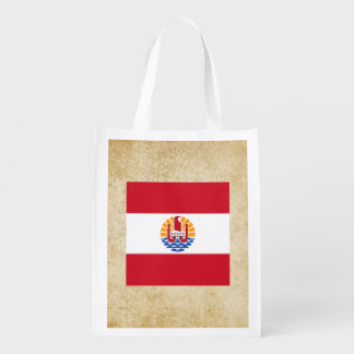 Golden French Polynesia Flag Grocery Bag