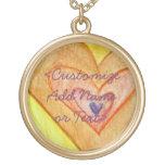 Golden Friendship Hearts Custom Jewelry Necklace