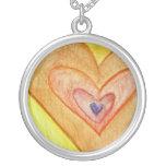 Golden Friendship Hearts Silver Necklace Pendants