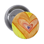 Golden Frienship Hearts Art Lapel Pins or Buttons