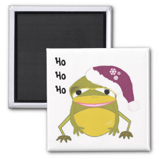 Golden Frog in a Santa Hat Magnet