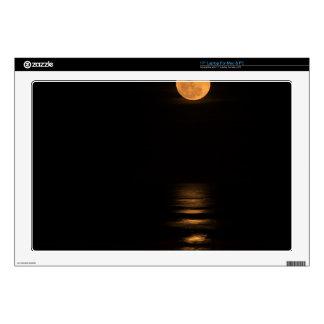 """golden full moon over ocean skin for 17"""" laptop"""