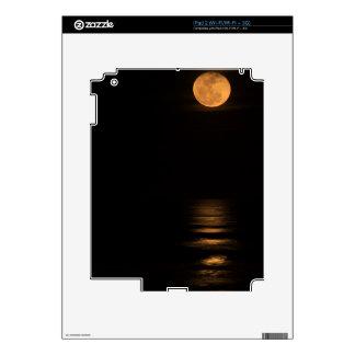 golden full moon over ocean iPad 2 decal