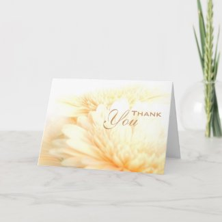 Golden Funeral Sympathy Thank You Card
