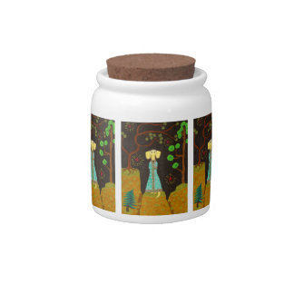 Golden Fur Candy Jar