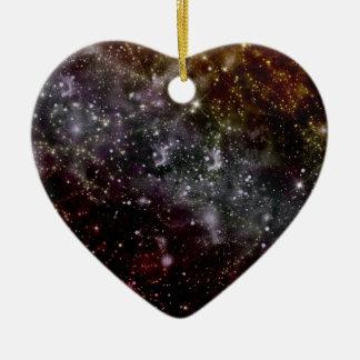 Golden Galaxy Starfield Ceramic Ornament