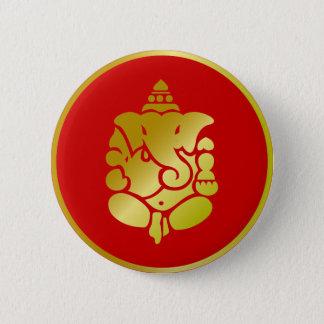 Golden Ganesha Button
