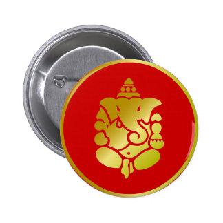 Golden Ganesha 2 Inch Round Button