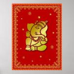 Golden Ganesha Poster