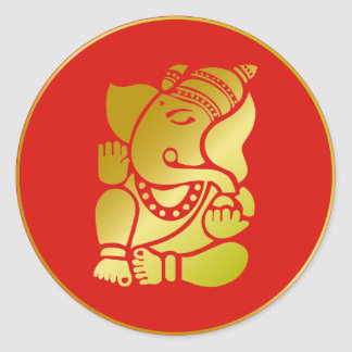 Golden Ganesha Stickers
