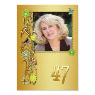 Golden Garden 47th Birthday party invitation