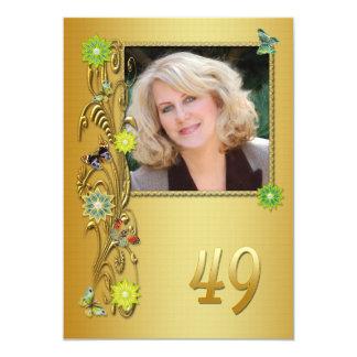 Golden Garden 49th Birthday party invitation