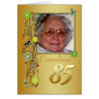 Golden Garden 85th Photo Birthday Card