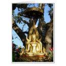 Golden Garden Buddha Cards