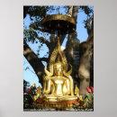 Golden Garden Buddha Poster