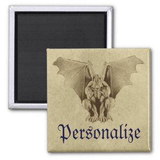 Golden Gargoyle Parchment Magnet