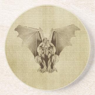 Golden Gargoyle Parchment Sandstone Coaster