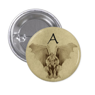 Golden Gargoyle Parchment Style Button