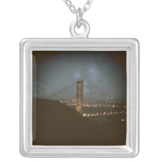 Golden Gate at Sunset Personalized Necklace