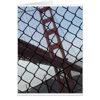 Golden Gate behind a fence Card
