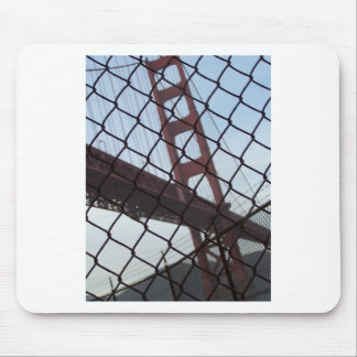 Golden Gate behind a fence Mouse Pad