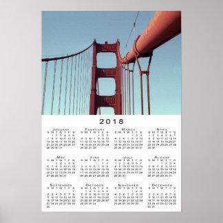 Golden Gate Bridge 2018 Calendar Poster