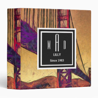 Golden gate bridge 3 ring binder