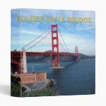 Golden Gate Bridge 3 Ring Binder