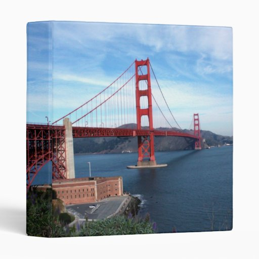 Golden Gate Bridge 3 Ring Binders