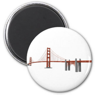 Golden Gate Bridge: 3D Model: 2 Inch Round Magnet