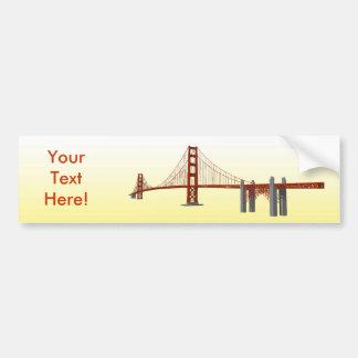 Golden Gate Bridge: 3D Model: Bumper Sticker