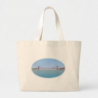 Golden Gate Bridge: 3D Model: Large Tote Bag