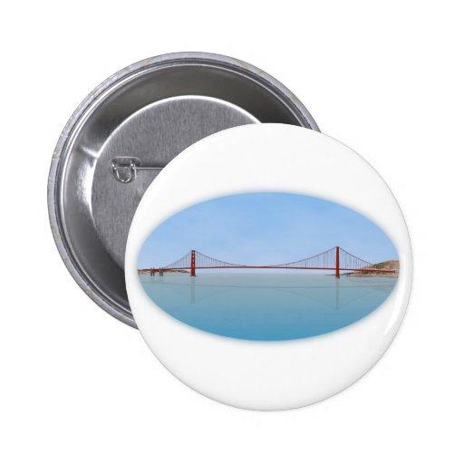 Golden Gate Bridge: 3D Model: Pinback Buttons