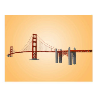 Golden Gate Bridge 3D Model Postcard
