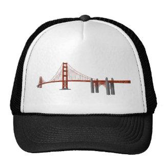 Golden Gate Bridge: 3D Model: Trucker Hat