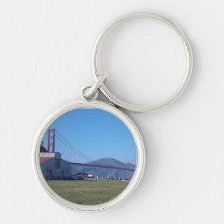 Golden Gate Bridge_6 Silver-Colored Round Keychain