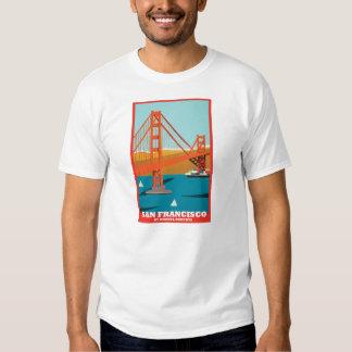 Golden Gate Bridge 75th Tee by Rhonel