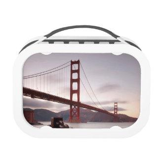 Golden Gate Bridge against mountains Lunch Box