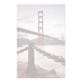 Golden Gate Bridge against mountains Stationery