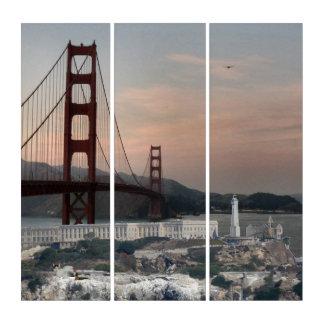 Golden Gate Bridge & Alcatraz Triptych