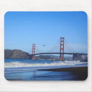 Golden Gate Bridge and Beach Mousepad