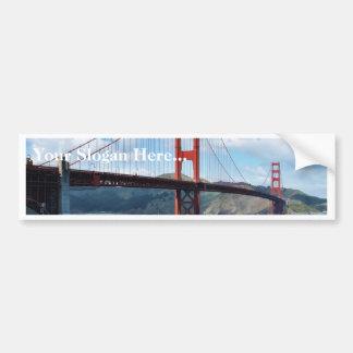 Golden Gate Bridge And Fort Point In San Francisco Bumper Sticker