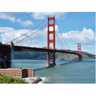 Golden Gate Bridge And Fort Point In San Francisco Statuette