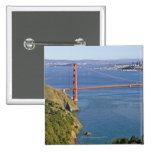 Golden Gate Bridge and San Francisco. 2 Pinback Button