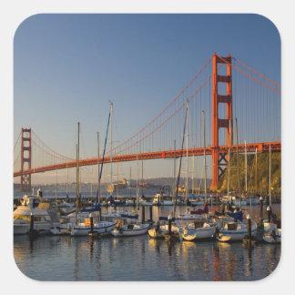 Golden Gate Bridge and San Francisco 2 Square Sticker
